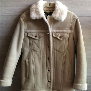 BURBERRY vintage faux fur coat